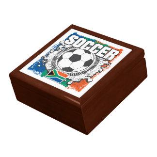 Grunge Soccer South Africa Keepsake Box