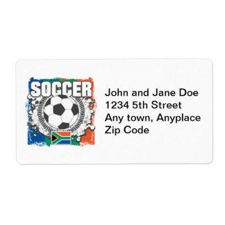 Grunge Soccer South Africa Label