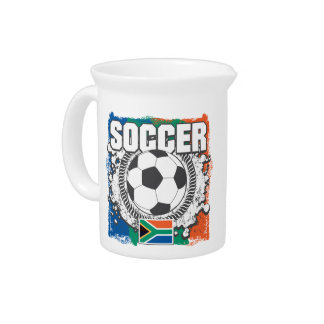 Grunge Soccer South Africa Pitchers
