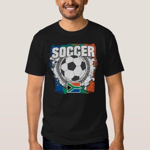 Grunge Soccer South Africa Tee Shirt