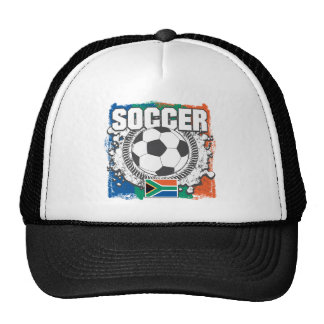 Grunge Soccer South Africa Trucker Hat