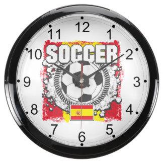 Grunge Soccer Spain Fish Tank Clocks