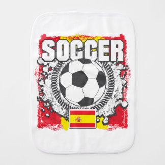 Grunge Soccer Spain Burp Cloths