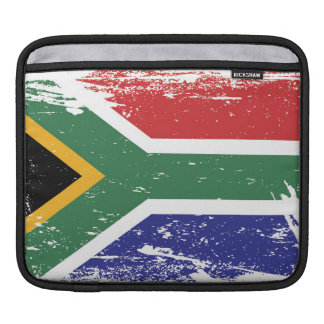 Grunge South Africa Flag Sleeve For iPads