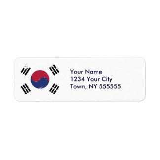 Grunge South Korea Flag Label