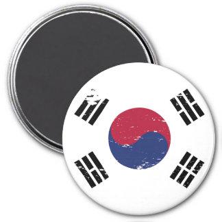 Grunge South Korea Flag Magnet