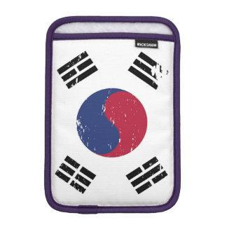 Grunge South Korea Flag Sleeve For iPad Mini