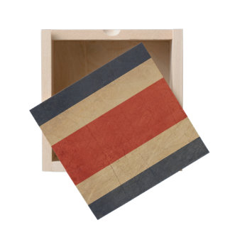 Grunge sovereign state flag of Costa Rica Wooden Keepsake Box