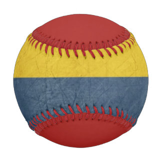 Grunge sovereign state flag of country of baseball