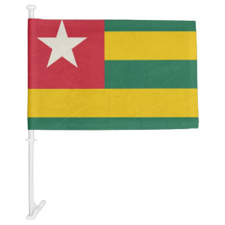 Grunge sovereign state flag of country of Togo