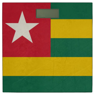 Grunge sovereign state flag of country of Togo Bathroom Scale
