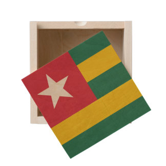 Grunge sovereign state flag of country of Togo Wooden Keepsake Box