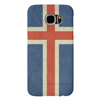 Grunge sovereign state flag of Iceland Samsung Galaxy S6 Cases