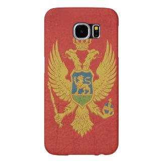 Grunge sovereign state flag of Montenegro Samsung Galaxy S6 Cases