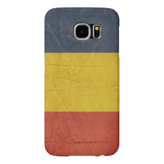 Grunge sovereign state flag of Romania Samsung Galaxy S6 Cases