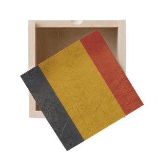 Grunge sovereign state flag of Romania Wooden Keepsake Box