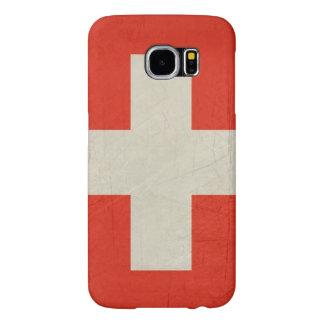 Grunge sovereign state flag of Switzerland Samsung Galaxy S6 Cases