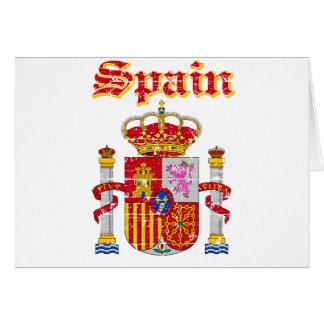 Grunge Spain coat of arms designs Card