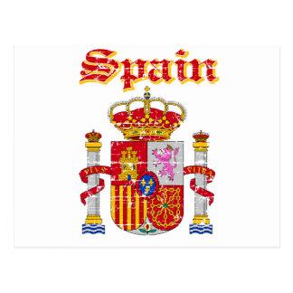 Grunge Spain coat of arms designs Postcard