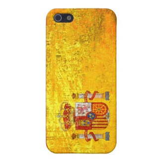Grunge Spain flag iPhone SE/5/5s Cover