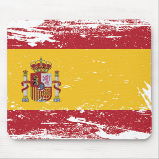 Grunge Spain Flag Mouse Pad