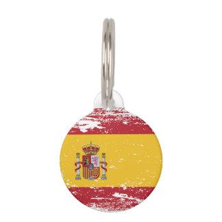 Grunge Spain Flag Pet Tag
