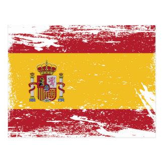 Grunge Spain Flag Postcard
