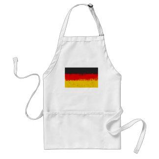 Grunge Splatter Painted Flag of Germany Adult Apron