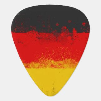 Grunge Splatter Painted Flag of Germany Guitar Pick