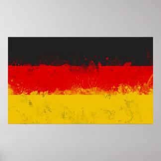 Grunge Splatter Painted Flag of Germany Poster