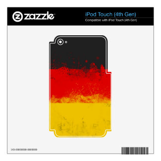 Grunge Splatter Painted Flag of Germany Decals For iPod Touch 4G