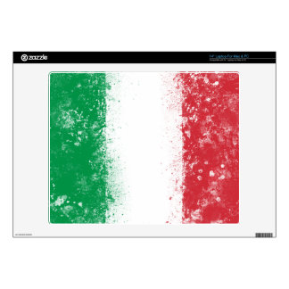 "Grunge Splatter Painted Flag of Italy Decal For 14"" Laptop"