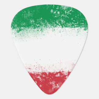 Grunge Splatter Painted Flag of Italy Guitar Pick