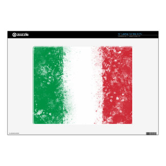 Grunge Splatter Painted Flag of Italy Laptop Decal