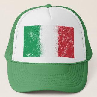Grunge Splatter Painted Flag of Italy Trucker Hat
