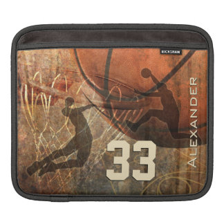 grunge sports boys basketball his name sleeve for iPads