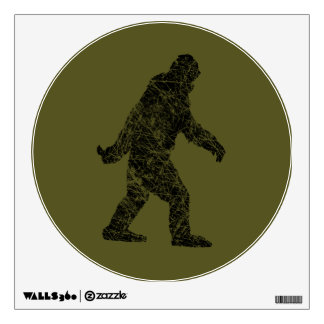 Grunge Squatchin Bigfoot Style Wall Decal