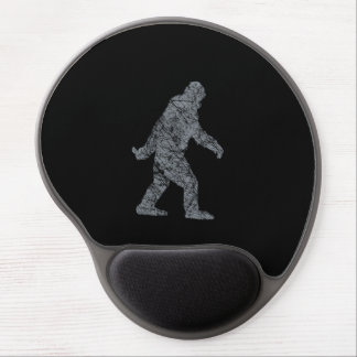 Grunge Squatchin Sasquatch Bigfoot on black Gel Mouse Pad