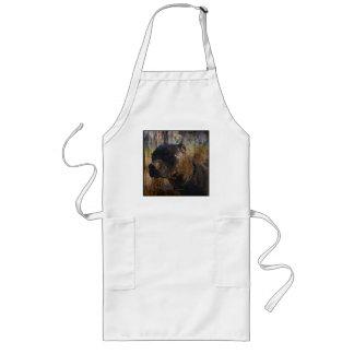 Grunge Staffordshire Terrier americano Pitbull Delantal Largo