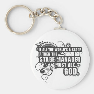 Grunge Stage Manager God Key Chain