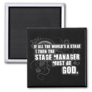 Grunge Stage Manager God Fridge Magnets