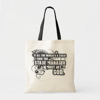 Grunge Stage Manager God Tote Bag
