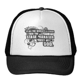 Grunge Stage Manager God Trucker Hat