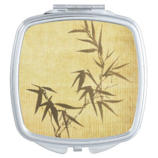 Grunge Stained Bamboo Paper Background Makeup Mirrors