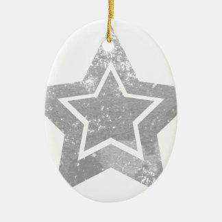 Grunge star ceramic ornament