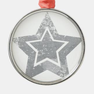 Grunge star metal ornament