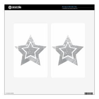 Grunge Star Skin For Kindle Fire