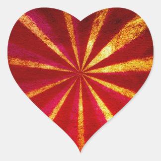 Grunge starburst heart sticker