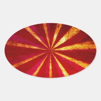 Grunge starburst oval sticker