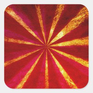 Grunge starburst square sticker